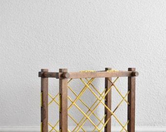 vintage wooden standing wine bottle rack / wine shelf / barware /  bar storage