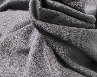 French terry Modal Supima cotton spandex Knit Fabric soft and luxurious Silver