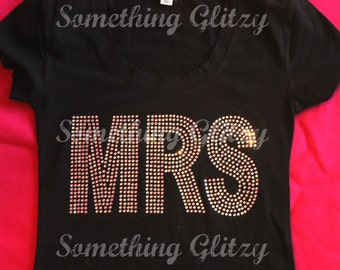 Mrs Rhinestone Tank Top, Mrs Rhinestone Tee, Mrs Bling Tank Top, Wifey Bling Tshirt, Mrs Plus size shirt, Wifey shirt, wifey, Just Married