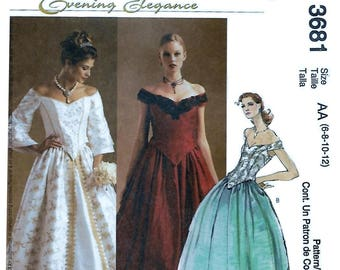 McCalls 3681 Evening Elegance Women's Petite Lined Tops and Skirts Sewing Pattern Bust 30 1/2 to 44