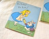 1950s NOS Walt Disney Alice in Wonderland Belated Birthday Card with Envelope