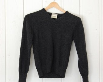 L.L. Bean Charcoal Grey Wool Sweater - Made in England