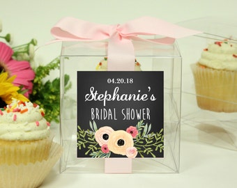 Bridal Shower Favor Boxes | Bridal Shower Cupcake Boxes - Sophie Label-Personalized Favor Box | Wedding Favor Box - ANY OCCASION - set of 12