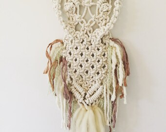 Macrame Owl Wall Hanging Nursery Decor
