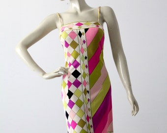 vintage Pucci dress, 1960s mini silk dress