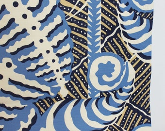 Quadrille Alan Campbell Ferns Roman Shades (Shown in Blues/Beige-comes in 3 colors)
