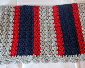 Crochet Baby Blanket - New England Patriots
