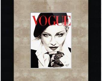 Vogue. Madonna. Print. Frame Ready. Choose Size.