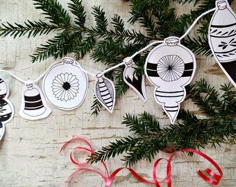 Printable Christmas decoration, Christmas instant download, DIY Christmas decorations Christmas printable banner, gift tags, xmas ornaments