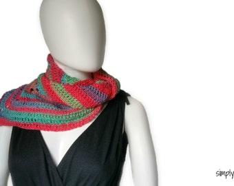 Everyday Triangle Scarf crochet pattern - One Skein - Written Pattern PDF