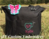 Personalized or Monogrammed NURSE/Doctor Super Tote 23 BAG Colors to Choose from