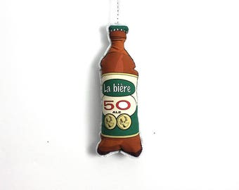 Beer Christmas Ornament:  La bière 50- Christmas decoration