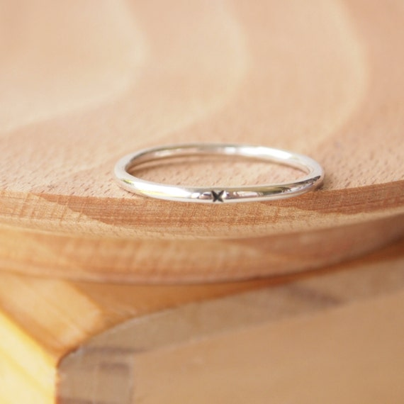 silver promise ring plain silver band sterling silver