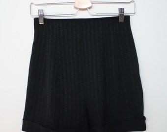 Vintage 80s High-waisted Tap Shorts with Cuff S
