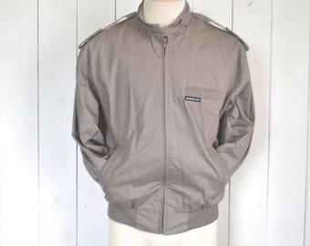 Vintage Members Only Jacket Early 90s Mauve Gray Windbreaker Bomber Jacket Size 40 Medium