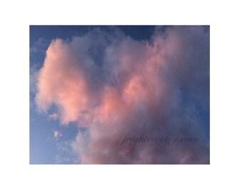 Pink Clouds Photography Print, Romantic Wall Art, Valentine's Day Decor, Nursery Decor