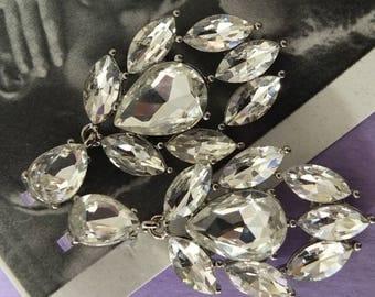 Art Deco Flapper inspired rhinestone earrings wedding dress perfection