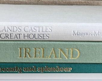 Scotland,Ireland,coffee table books,Set of 3,traveler, travel,wanderlust,Castles,Irish,Scottish,decorative books, gift for traveler