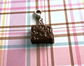 Polymer Clay Fudge Brownie Kawaii Charm Holiday Gift