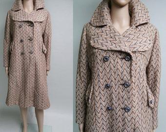 Vintage 1960s Coat//60s Coat//Double Breasted//1960s//Retro//Rockabilly//Mod//Mad Man