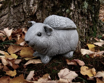Guinea Pig Angel Statue, Concrete Pet Remembrance Figure, Cement Garden Memorial