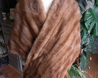 Pretty mink fur stole / cape / wrap / wedding