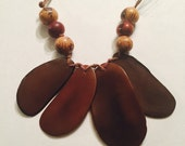 Tagua Slices Necklace - Macrame Jewelry- Eco-friendly, Mother's day