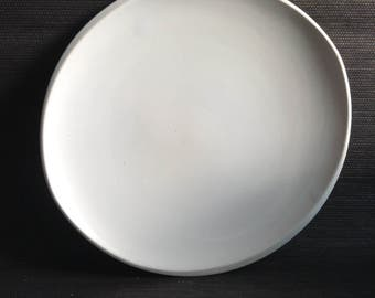 9 Franciscan Dinner Plates.  11 inch.  Eclipse White. RARE.  Regency, Sputnik, Mid century modern, Danish Modern, Eames era. Vintage 1950.