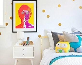 "Removable Wall Polka Dots | Vinyl Wall Decal Stickers | Set of 28 - 3"" vinyl circles | FREE SHIPPING"
