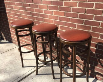 Thonet Style Bar Stools Set of 3