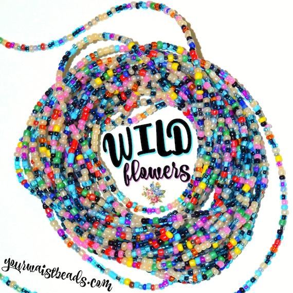 Waist Beads Custom fit ~Wildflowers ~ YourWaistBeads.com