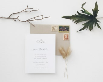 Mountains Wedding Save the Date - Sample
