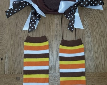 Turkey Bloomers and matching leggings Thanksgiving outfit