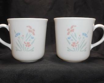 Corelle Stencil Garden Set of 2 Cups Corning