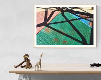 kids wall art // modern playroom decor // playful art // wall art for girls room boys room - Dizzy, original photography art print