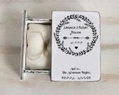 Personalized ring box White Ring bearer box Wedding ring box Rustic wedding box Wedding holder Jewellry box Book box Engagement ring box