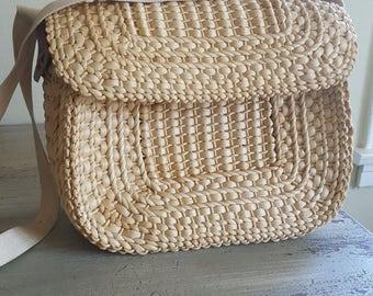 Straw beach bag | Etsy