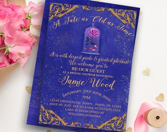 Beauty And The Beast Invitation Bridal Shower Invitation Beauty And The  Beast Party