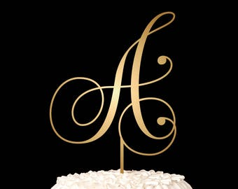 Wedding Monogram Cake Topper with your Initial - Confetti Collection