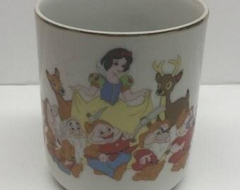 Disneyland Walt Disney World Snow White 7 Dwarves Mug Made in Japan