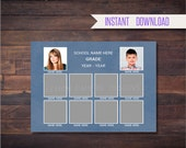 SALE 5x7 Class Composites for 10, Photoshop Templates, INSTANT DOWNLOAD - SCH12