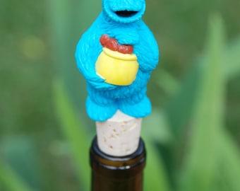 Cookie Monster Wine Bottle Stopper Cookie Jar