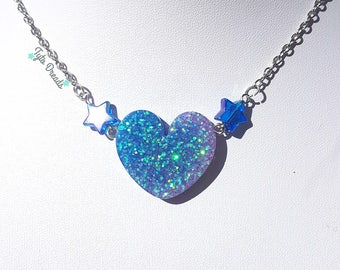 Heart N Stars - Resin Necklace