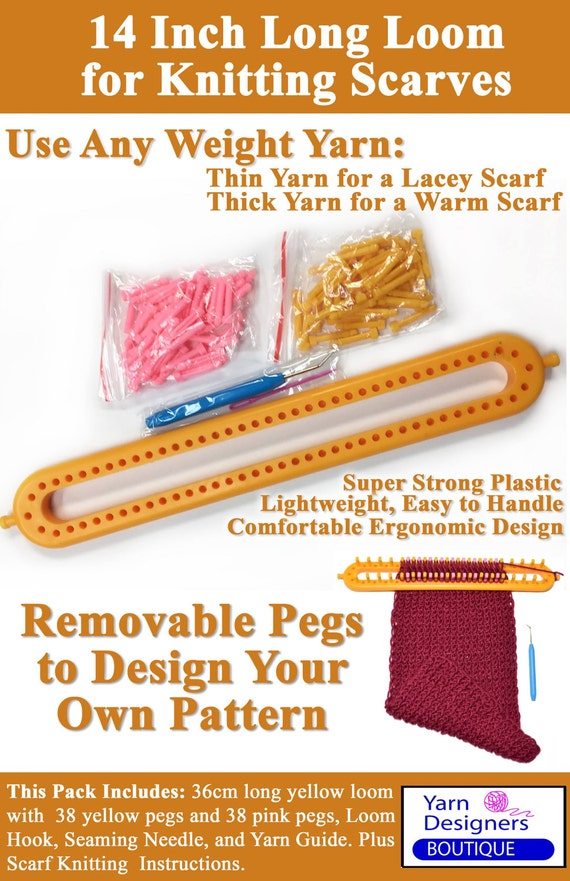 Loom Knitting Questions : Long knitting loom board with removable pegs