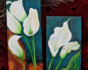 Calla Lily 2 piece Painting Set