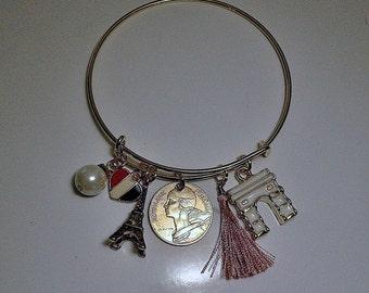 France  Coin Charm  Bracelet 1983