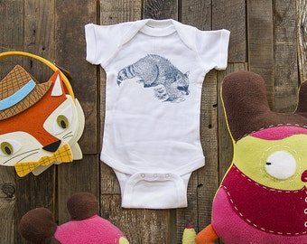 raccoon 1 - graphic printed on Infant Baby One-piece, Infant Tee, Toddler Shirts