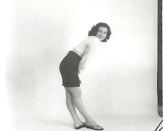 "Vintage Photo ""Susie's Lookbook"" Fashion Model Portfolio Pretty Girl Photography Studio Found Photo"