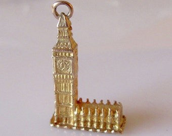 9ct Gold Big Ben and Houses of  Parliament Charm