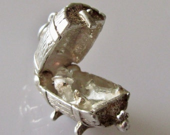 Silver Man in  Barrel Opening Charm